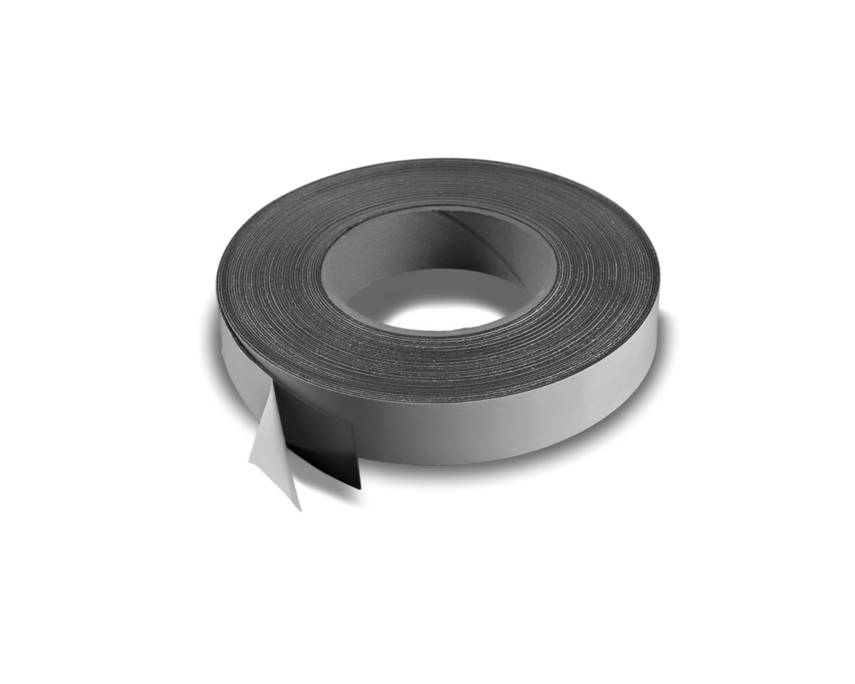"""1"""" Adhesive Magnetic Tape 30 mil Strip Roll"""