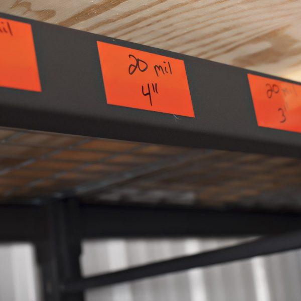 Dry Erase Shelf Labels