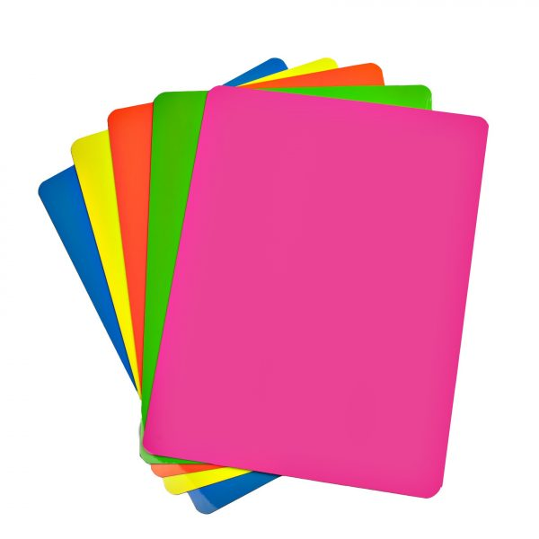"4"" Fluorescent Neon Dry Erase Shelf Labels"