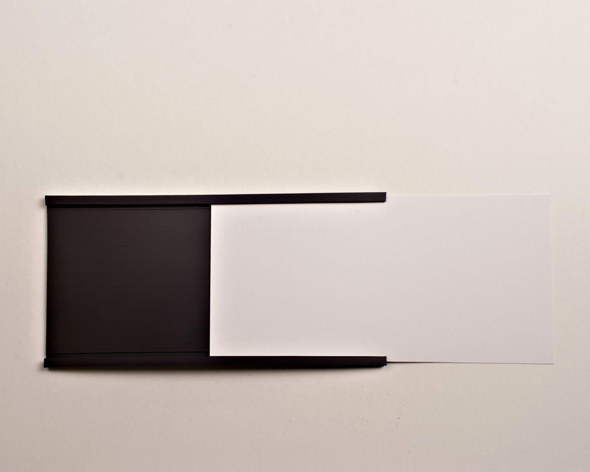 "3"" C-Channel Data Card Holder Pack"