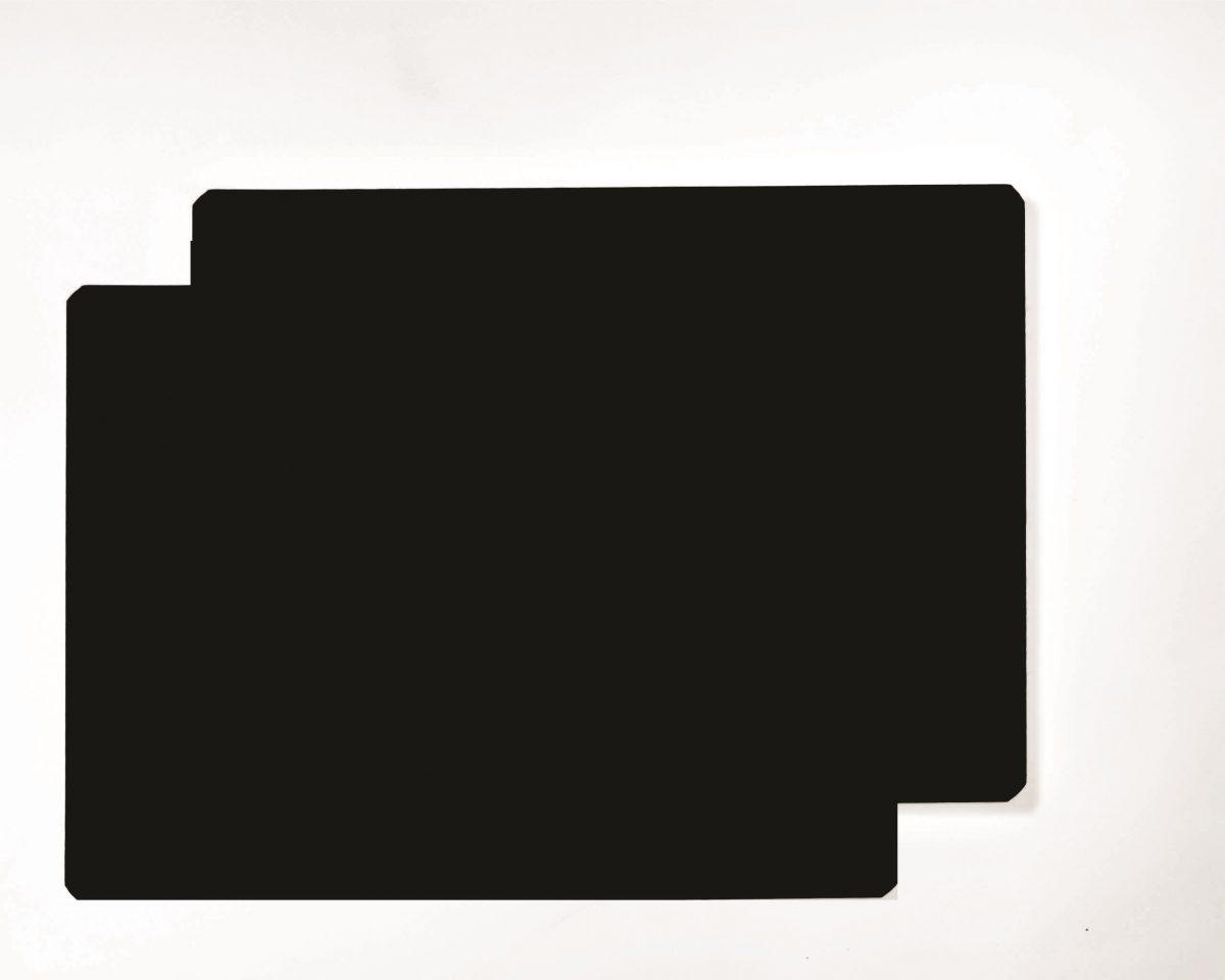 "12"" x 24"" Black Vinyl Sign Blank Magnets"