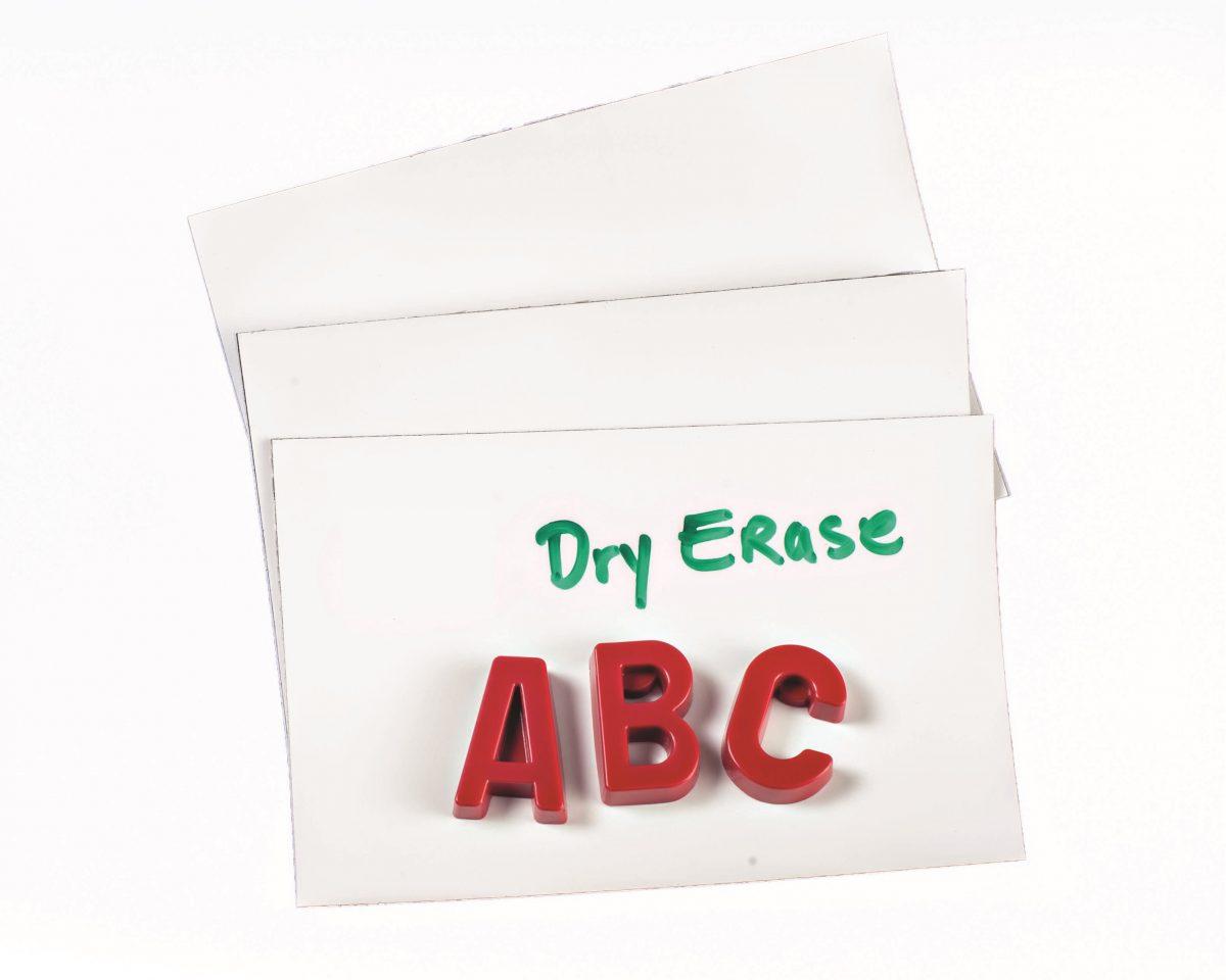 "4"" White Dry Erase 60 mil Magnet Shelf Labels"