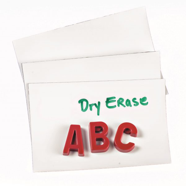 "4"" White Dry Erase 60 mil Magnet Shelf Labels"