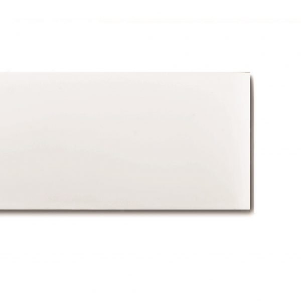 "8"" White Dry Erase 60 mil Magnet Shelf Labels"