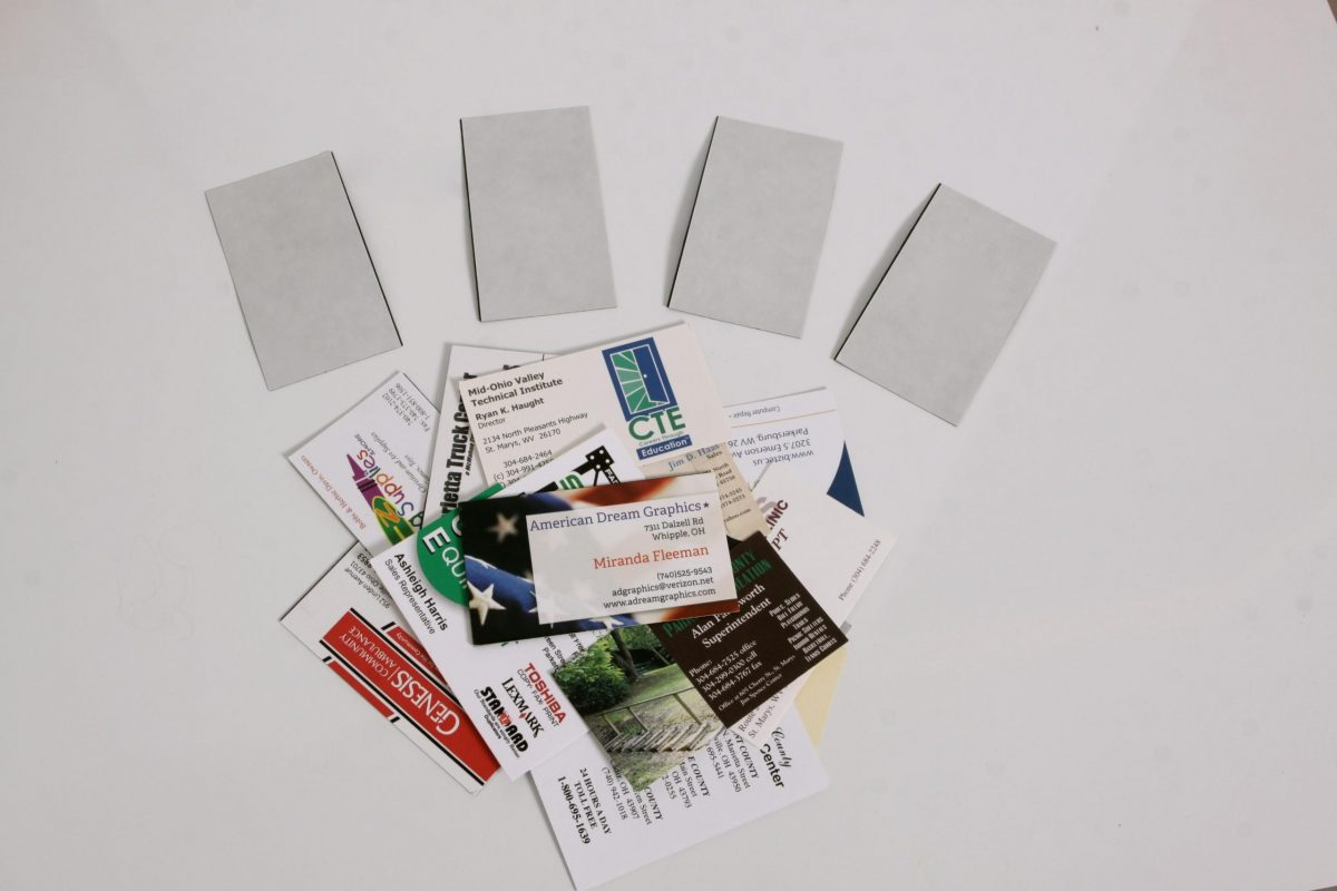 12 mil Adhesive Business Card Magnets