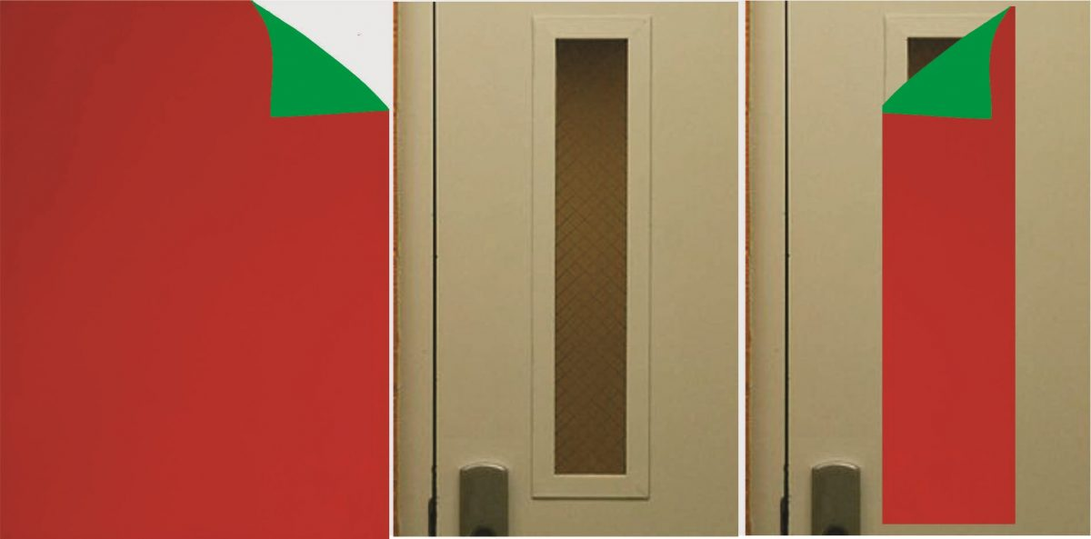 "24"" Double Sided Magnet Green and Red By The Foot"